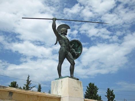 Estatua de Leónidas en Grecia