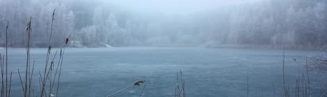 Winter lake Krikštonys, Alytus, Lituania. Por aivas14 (CC BY-SA 2.0)