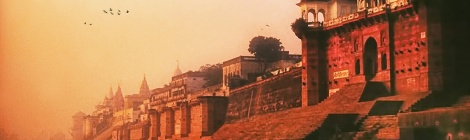Time stands still ...the Holy Ganges river at dawn. By Nick Kenrick (CC BY-NC-SA 2.0) from 1987 . Varanasi